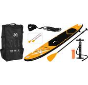 XQ-Max Opblaasbaar SUP board set - Oranje - met pomp,  peddel en draagtas - 320x76x15cm