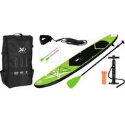 XQ-Max Opblaasbaar SUP board set - Groen - met pomp,  peddel en draagtas - 320x76x15cm