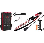 XQ-Max Opblaasbaar SUP board set - Race - met pomp,  peddel en draagtas - 381x66x15cm