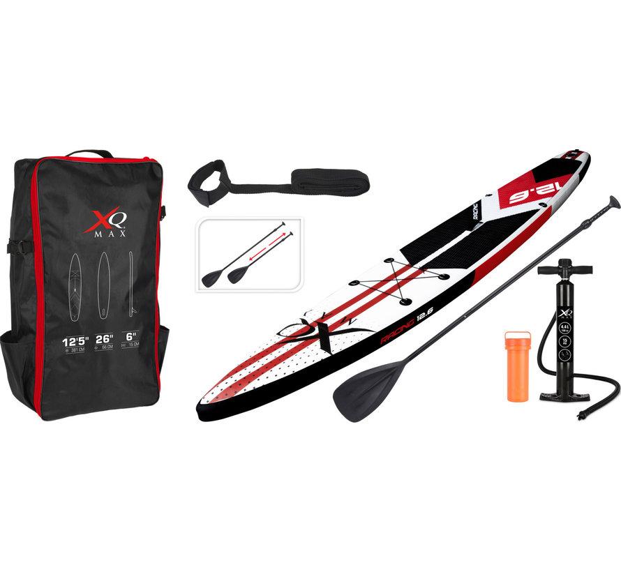 Opblaasbaar SUP board set - Race - met pomp,  peddel en draagtas - 381x66x15cm