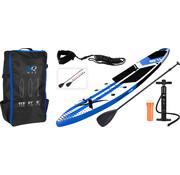 XQ-Max Opblaasbaar SUP board set - Tour - met pomp,  peddel en draagtas - 350x79x15cm