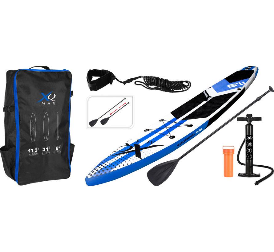 Opblaasbaar SUP board set - Tour - met pomp,  peddel en draagtas - 350x79x15cm