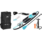 XQ-Max Opblaasbaar SUP board set - Licht Blauw - met pomp,  peddel en draagtas - 320x76x15cm