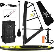 XQ-Max Opblaasbaar wind SUP board set - Sail - met windzeil, pomp,  peddel en draagtas