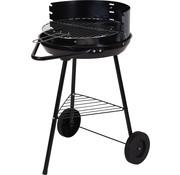 BBQ Equipment Half open barbecue op wielen rond Ø45cm - Hoogte 70cm