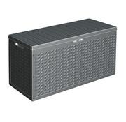 Huismerk Verrijdbare tuinkussen opbergbox / kussenbox - antraciet - 320 Liter - 120x45x60 cm