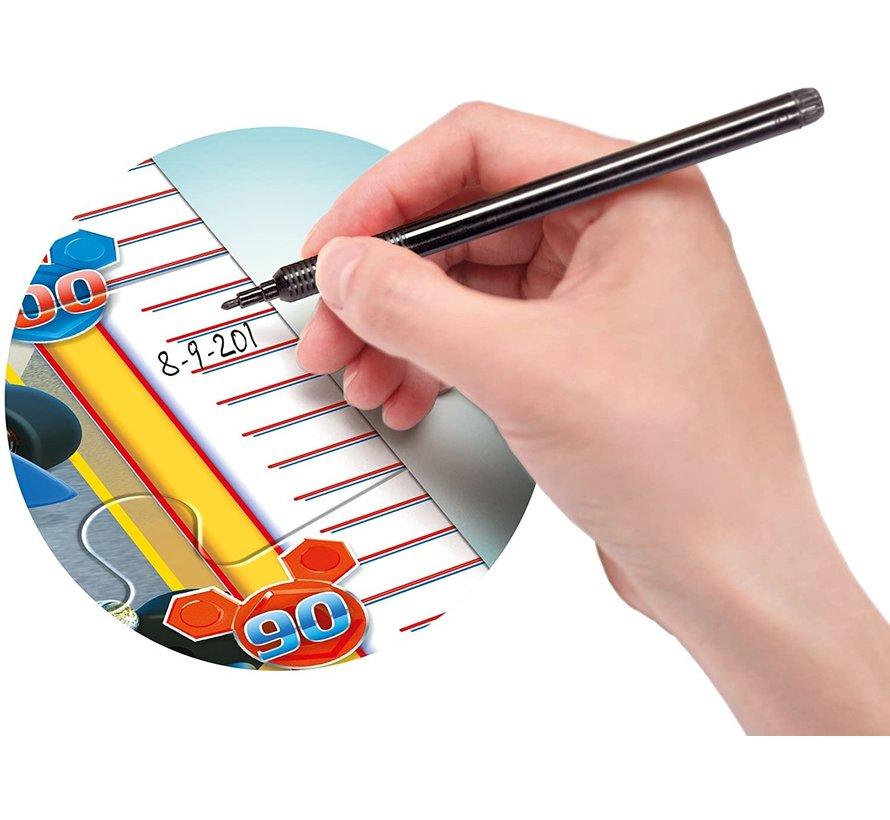 Meetlat Puzzel Mickey Roadster Racers - 30 stukjes - Tot 140cm