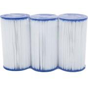 Bestway 3 stuks Flowclear Filterpatroon Type III (=A&C) Voor filterpompen tot 5678 Ltr/uur