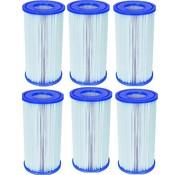 Bestway 6 stuks Flowclear Filterpatroon Type III (=A&C) Voor filterpompen tot 5678 Ltr/uur