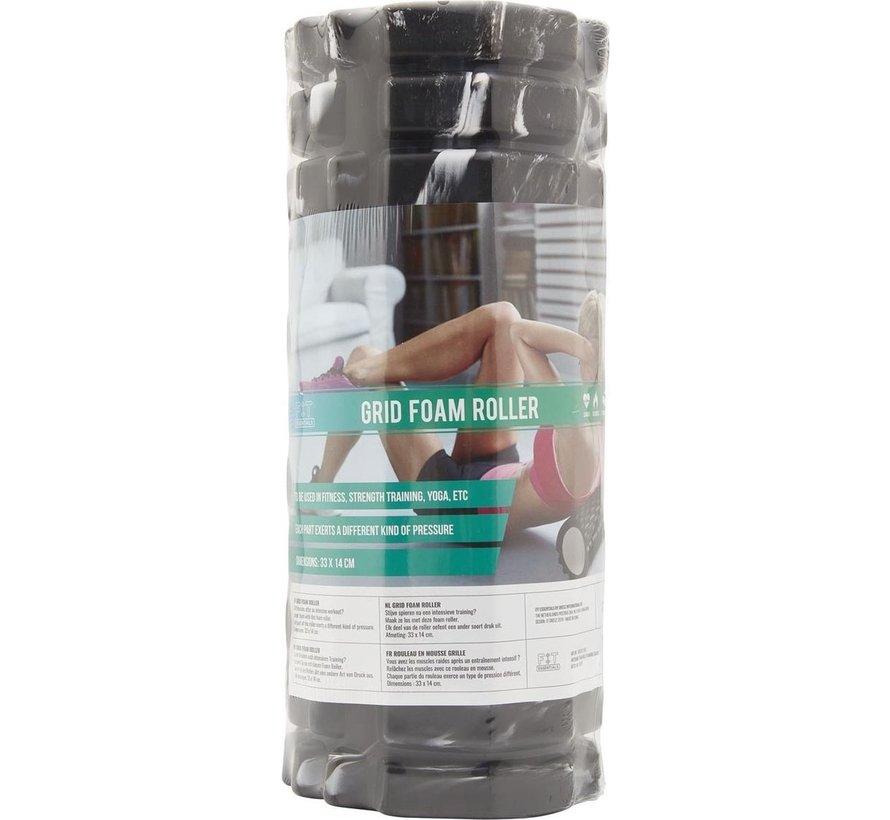 Foam Massage Roller Zwart 33x14cm - Foam roller - Masseer je spieren - Sneller herstellen - Minder spierpijn