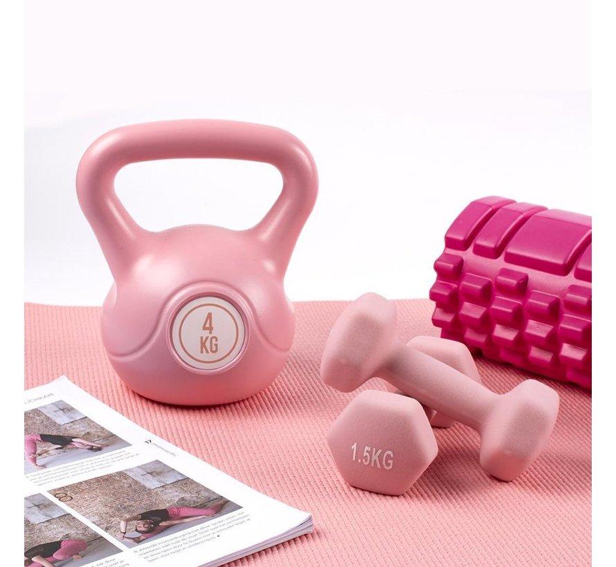 Foam Massage Roller Roze 33x14cm - Foam roller - Masseer je spieren - Sneller herstellen - Minder spierpijn