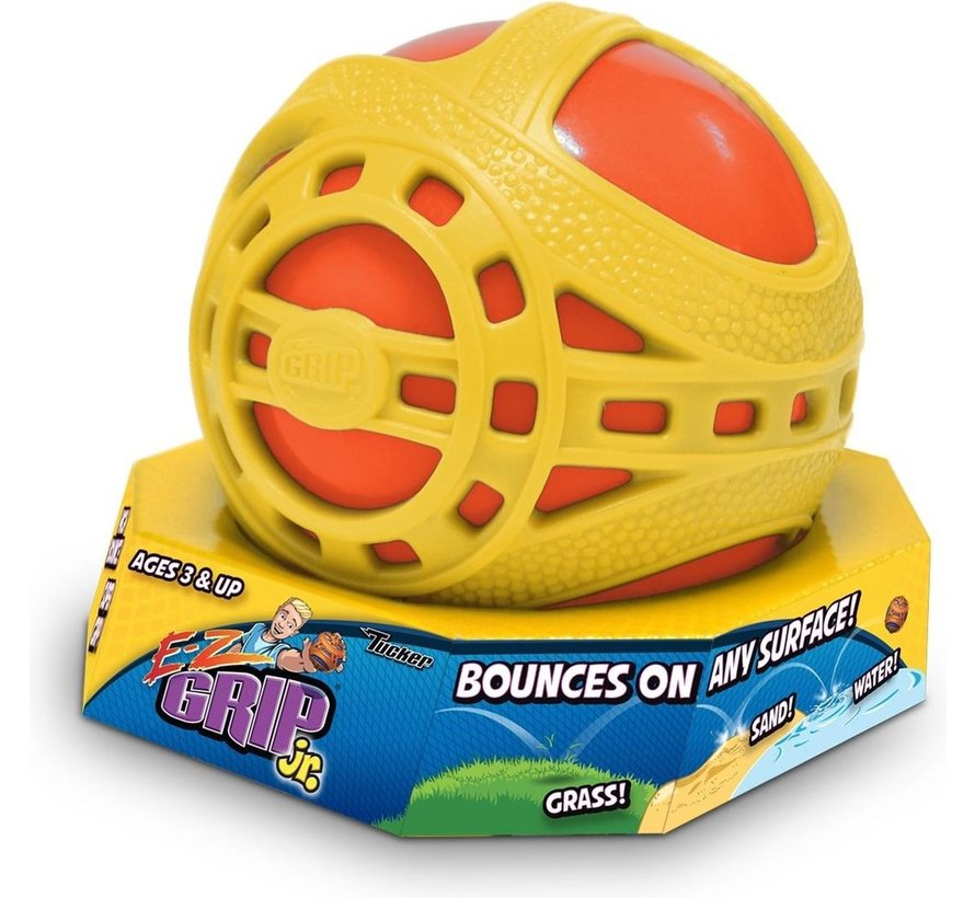E-Z Grip Junior bal / stuiterbal - Geel / Oranje