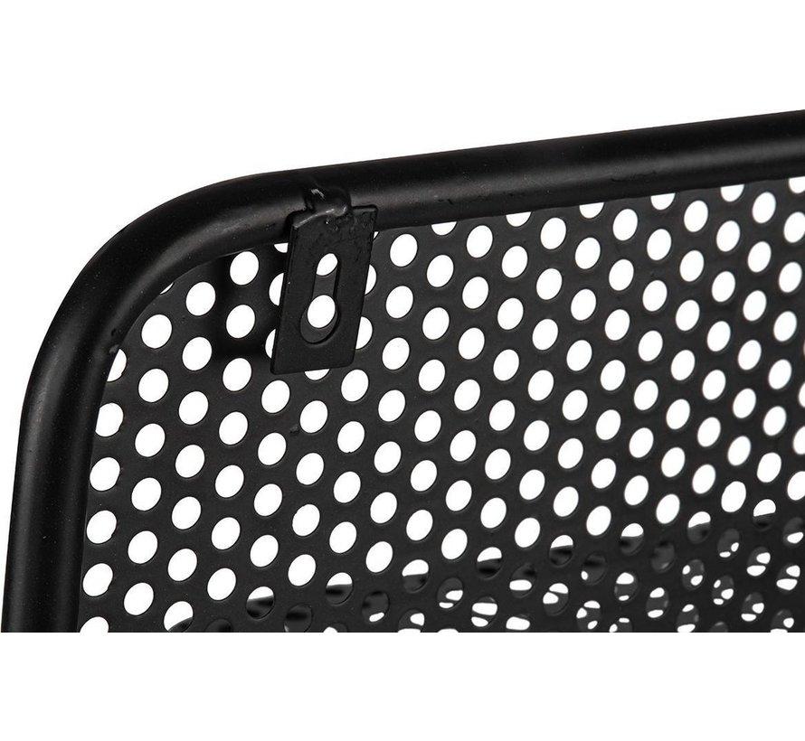 Trendy design Wandrek Metaal Zwart met 3 Verplaatsbare Containers en 1 plank