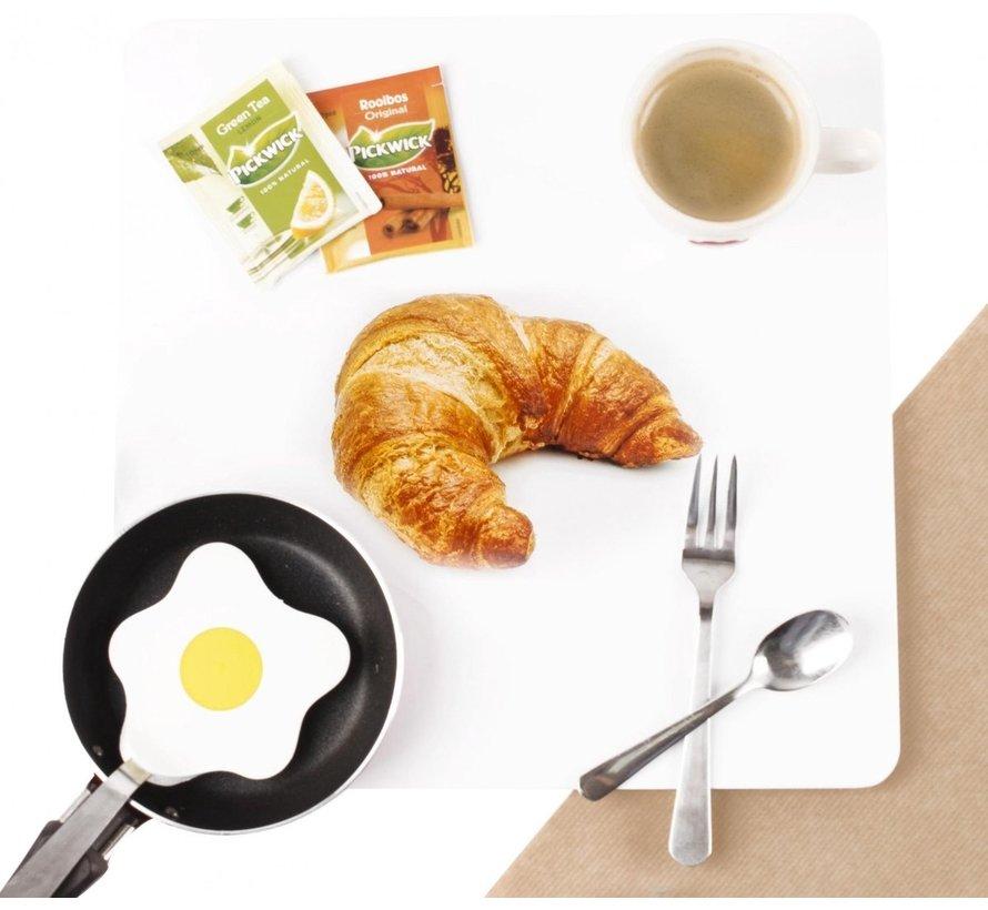 Trendy Magneetbord Croissant - Whiteboard - Beschrijfbaar - 4 Magneten - 29x29cm