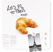 Dresz Trendy Magneetbord Croissant - Whiteboard - Beschrijfbaar - 4 Magneten - 29x29cm