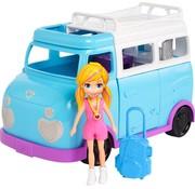 Mattel Polly Pocket - Avonturen Camper / Kampeerwagen met pop en accessoires