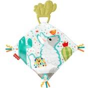 Fisher Price 2-in-1 Baby knuffeldoek met bijtring Cactus Lama 13 cm