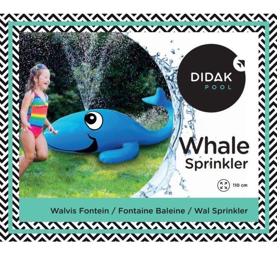 Walvis Sproeier Opblaasbaar / Sproeiende Walvis - 110x45cm