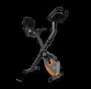 Orange Gym X Bike - Bekend van TV - Opvouwbare hometrainer – incl. rugsteun, 8 weerstandsniveaus, LCD monitor, fiets