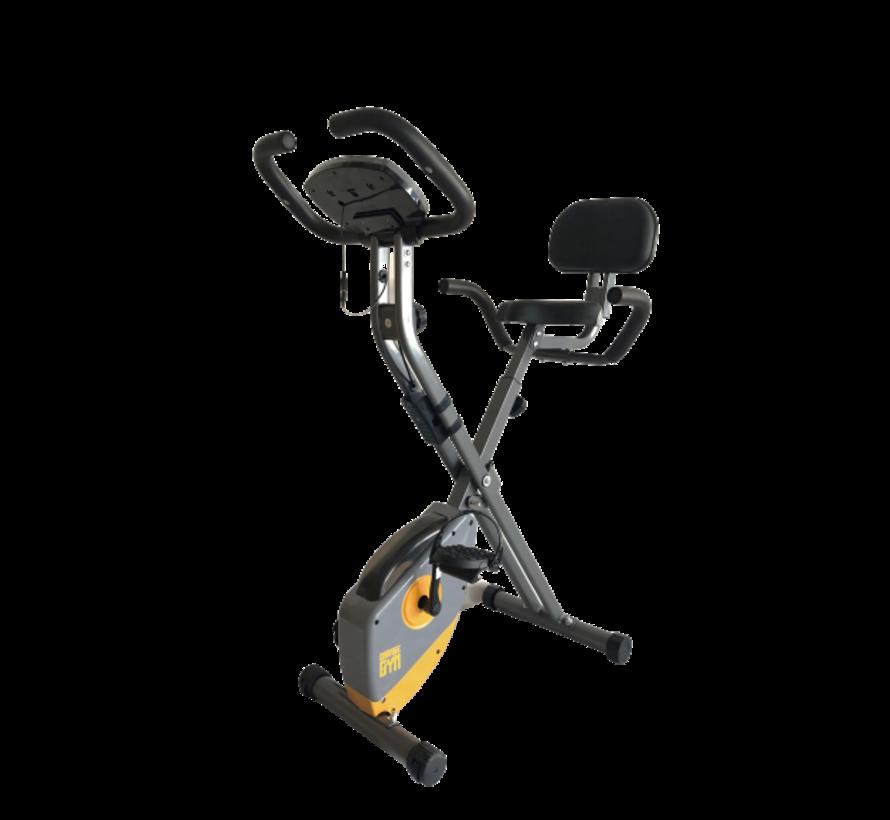X Bike - Bekend van TV - Opvouwbare hometrainer – incl. rugsteun, 8 weerstandsniveaus, LCD monitor, fiets