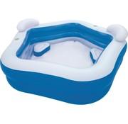 Bestway Familie lounge zwembad met 2 zitjes, hoofdsteun en drinkbekerhouders - 213x207x69cm