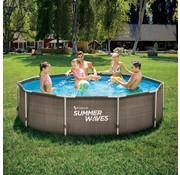 Summer Waves Double Rattan Metal frame zwembad -  Inclusief filterpomp - Ø 305cm x 76cm