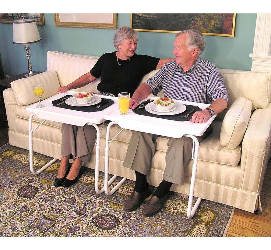 Magic Table - Multifunctionele inklapbare bijzettafel – Bedtafel – Laptoptafel – Inklapbaar