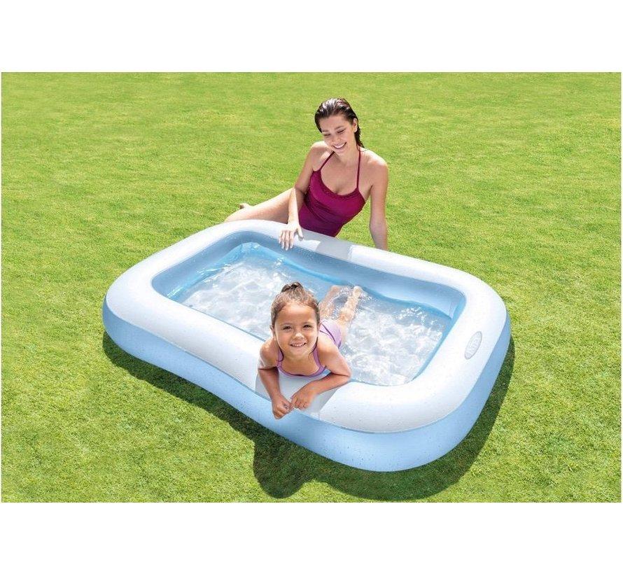 Baby zwembad - rechthoekig - Zachte opblaasbare bodem - 166x100x28cm