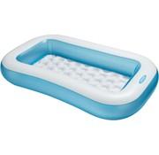 Intex Baby zwembad - rechthoekig - Zachte opblaasbare bodem - 166x100x28cm