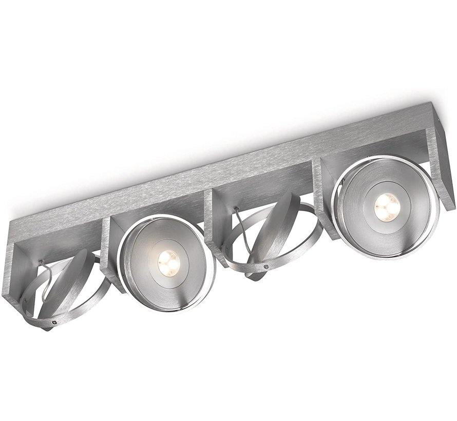 Ledino Particon LED Aluminium - Plafondlamp 4-spots (4,5Wx4)