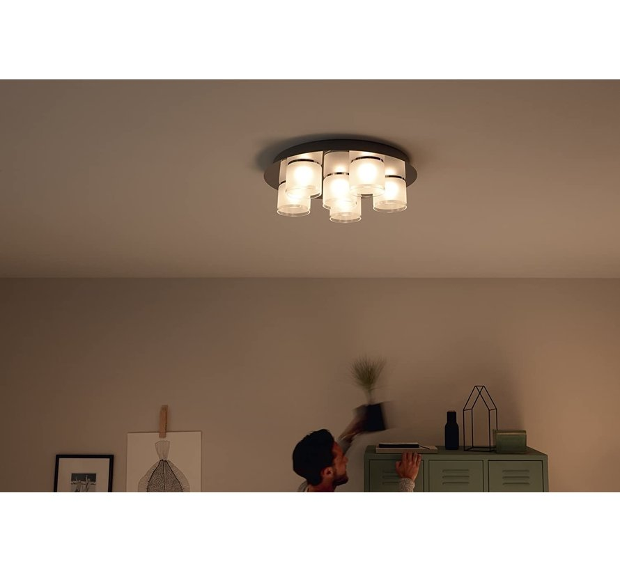 Instyle Byzantin Chroom LED - Plafondlamp - 6 Lichtpunten van 5 Watt
