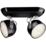 Philips MyLiving Dyna 2 spots plafondlamp - LED 3 Watt - Zwart