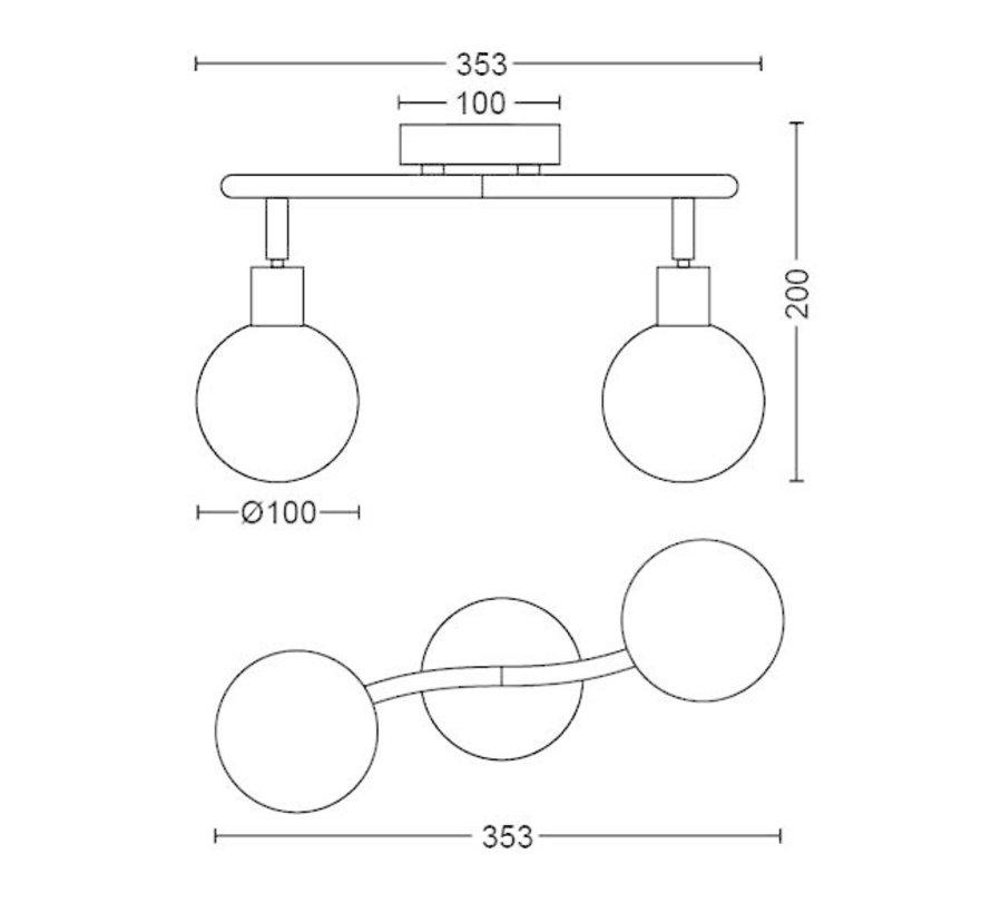 MyLiving Net - Spiraalspot chroom (G9 2x28W) dimbaar