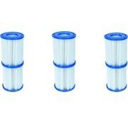 Bestway 6 stuks Flowclear Filterpatroon Type I - Voor filterpompen tot 1,2 m³