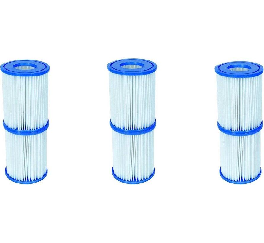 10 stuks Flowclear Filterpatroon Type I - Voor filterpompen tot 1,2 m³