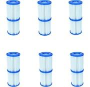 Bestway 12 stuks Flowclear Filterpatroon Type I - Voor filterpompen tot 1,2 m³