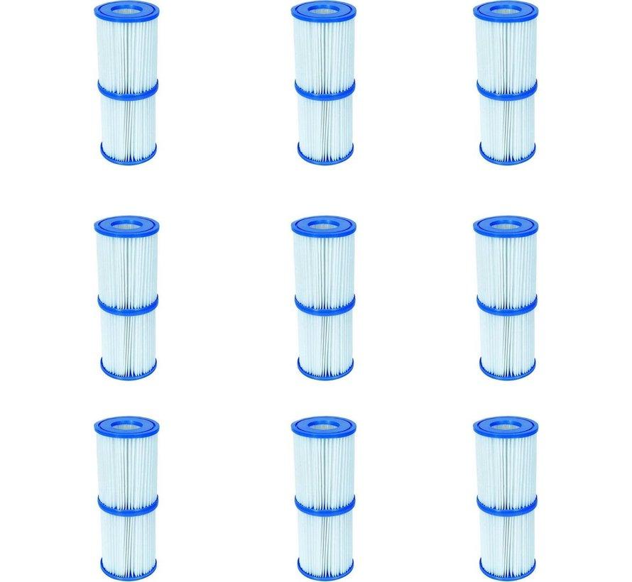 18 stuks Flowclear Filterpatroon Type I - Voor filterpompen tot 1,2 m³