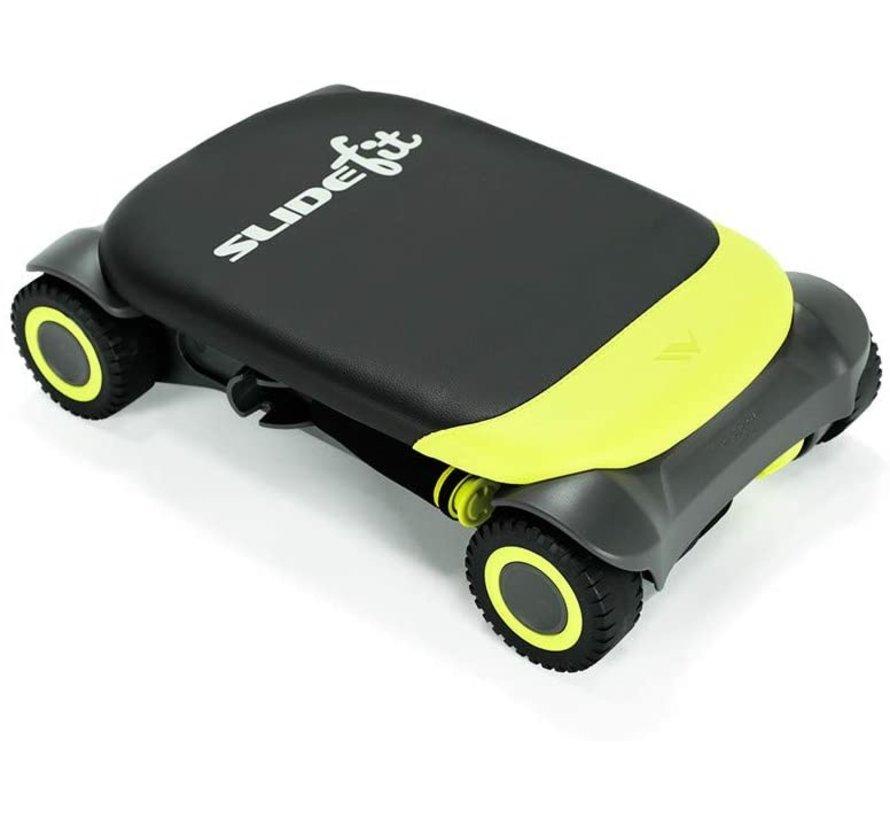 Slide Fit - Buikroller - Fitness - Trainingsapp met fitnessvideo's en fitnessgames - groen