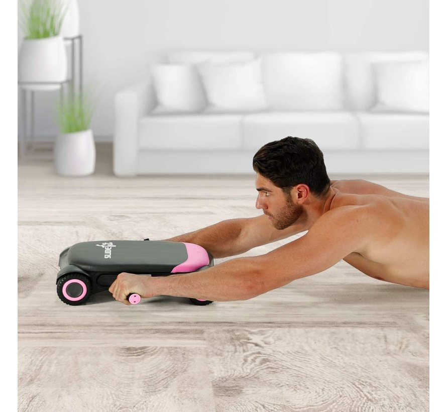Slide Fit - Buikroller - Fitness - Trainingsapp met fitnessvideo's en fitnessgames - roze