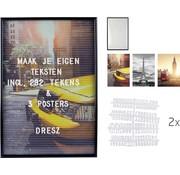 Dresz Letterbord - Inclusief 292 Letters, Nummers, Symbolen en 3 Posters