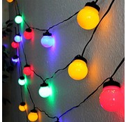 Party Lighting Feestverlichting - 20 gekleurde bolletjes - met 80 LED lampen - 12,5 Meter