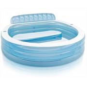 Intex Opblaasbaar zwembad - Family lounge - met zitbank en 2 bekerhouders - 224x216x76cm