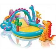 Intex Dinoland speelzwembad - met glijbaan - met sproeier - 333x229x112cm