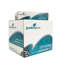 Feather Disposables Soft nitril handschoenen zwart 1000 STUKS