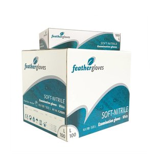 Feather Disposables Soft nitril handschoenen wit 1000 STUKS