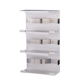 MediQo-line Handschoendispenser aluminium  TRIO