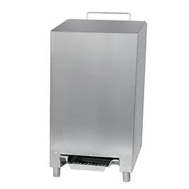 Ophardt Hygiëne Afvalbak RVS met anti finger print coating voetbediening 24 liter