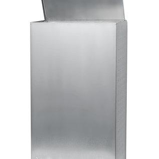 Ophardt Hygiëne Afvalbak RVS met anti finger print coating voetbediening 50 liter