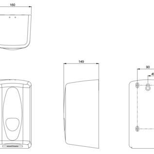 PlastiQline 2020 Papierrolhouder kunststof zwart geschikt voor mini papierrollen