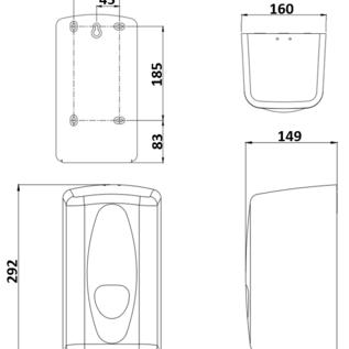 PlastiQline 2020 Papierrolhouder kunststof wit geschikt voor mini papierrollen